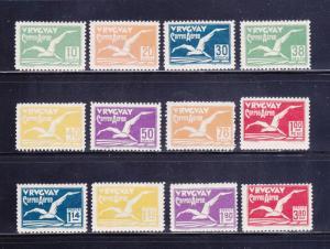 Uruguay C14-C25 Set MH Birds, Albatross