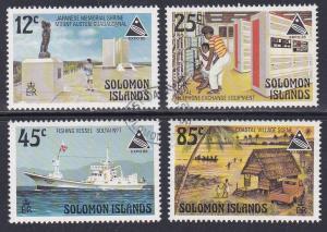 Solomon Islands # 539-542, Expo '85 & Scenes, Used