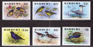 BARBUDA Scott 238-243 MNH** Bird set