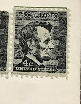 Abraham Lincoln stamp 1967 U.S. United States 4 cent