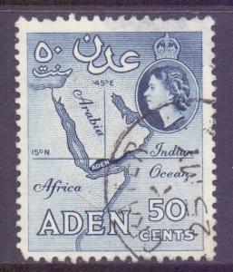 Aden Scott 71 - SG82, 1964 Saint Edward's Crown CA 50c used thin