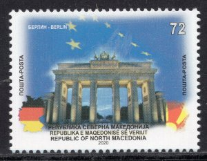 388 - NORTH MACEDONIA 2020 - North Macedonia in the EU - Berlin - MNH Set