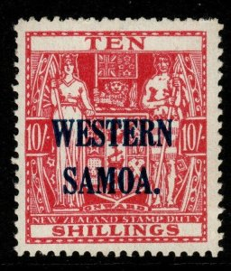 SAMOA SG209 1946 10/= CARMINE-LAKE MTD MINT