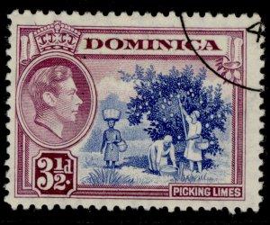 DOMINICA GVI SG104a, 3½d ultramarine & purple, FINE USED.
