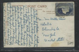 SOUTHERN RHODESIA  COVER  (P1002BB) WATERFALLS 3D ON PPC TO USA