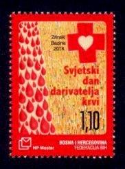 Bosnia & Herzegovina (Croat) Sc# 377 MNH World Blood Donor Day