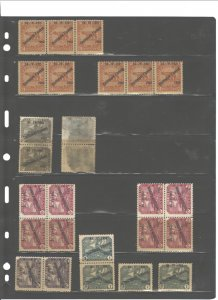 FIUME 1920-1922 G.d'ANNUNZIO SMALL ACCUMULATION MNH&MH &USED HIGH C.V.($140).