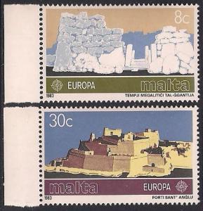 Malta 627-628 MNH Europa - Selvedge
