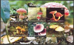 Djibouti 2011 Mushrooms (3) Imperf. MNH Cinderella !