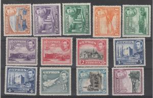 CYPRUS 1938 KGVI PICTORIAL RANGE TO 9PI