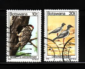 Botswana 204, 206 U Bennett's Woodpecker, Crowner Polvers