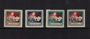 Latvia: 1920 Red Cross, (printed on back of blue Bolshevist bank notes) MNH