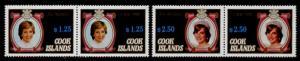 Cook islands 677-8 MNH Princess Diana 21st Birthday