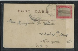 DOMINICA COVER (P2304B)  1910 1D ON PPC TO USA