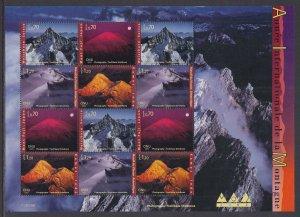 UN Geneva 395a Mountains Pane MNH VF
