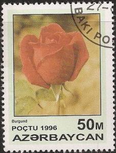 Azerbaijan 598 - Cto - 50m Red Rose, Burgundy (1996) (1)