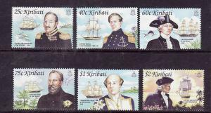 Kiribati-Sc#804-9-Unused NH set-Ships-Pacific Explorers-2002--please note there