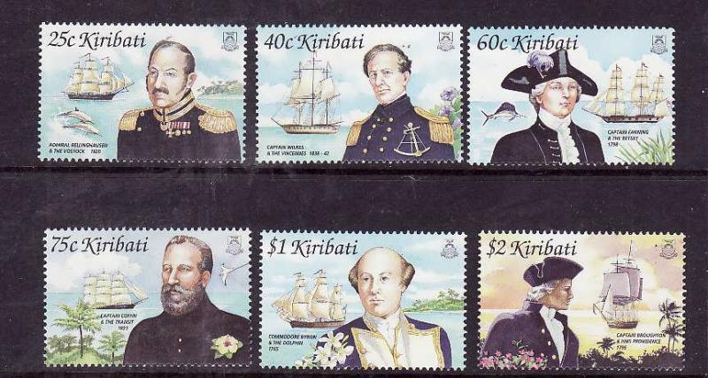 Kiribati-Sc#804-9-Unused NH set-Ships-Pacific Explorers-2002--please note there