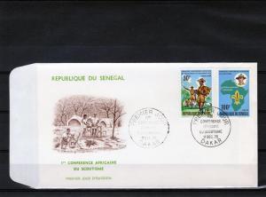 Senegal 1970 F.D.C. Boy Scout Conference Set (2) Sc# 332-333
