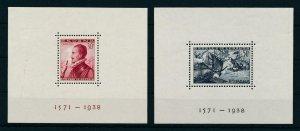 [107841] Spain 1938 Sea battle Lepanto ships 2 Souvenir sheets MNH
