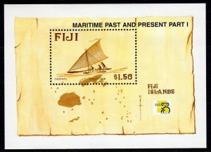 Fiji 1998 Sc#834 Camakau Maritime Past and Present Part I World Stamp S/S(1)MNH