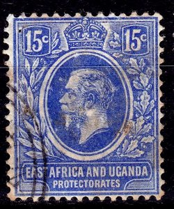 British East Africa (Kenya, Uganda and Tanganyika)- #6-1921-VFU- KGV - CV$22.50