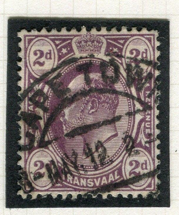 TRANSVAAL Interprovincial Period Ed VII CAPE TOWN Postmark on 2d.