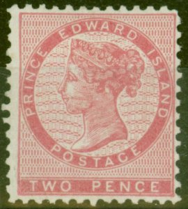 Prince Edward Is 1863 2d Rose SG12 P.11.5-12 Fine Mtd Mint