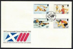 Isle of Man Commonwealth Games Edinburgh 4v FDC SG#306-309
