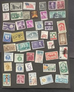 US 4c Used MIxture  85 stamp variety nice collection  FREE SHIPPING