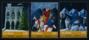 San Marino 1736-8 MNH Christmas, Government Palace, Sanat Claus, Holy Family