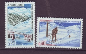 J21996 Jlstamps 1966 french andorra set #169-70 sking