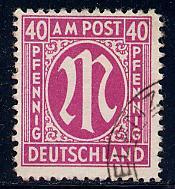 Germany AM Post Scott # 3N15, used, variation