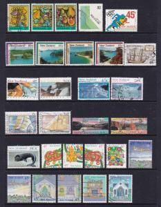New Zealand a small collection of used commems etc decimals