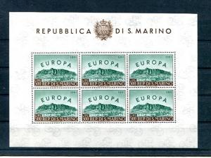 San Marino  Europa 1973 Mint VF NH Block of 6