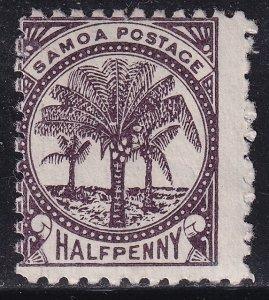 UK British Colonies & Territories SAMOA STAMP 1886 -1899 Palms 1/2 P. UNUSED/NG