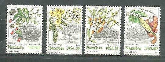 Namibia Flowers, Flores 4v Scott 849-52 MNH