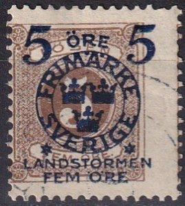 Sweden #B14 Used  CV $5.00  (Z5065)