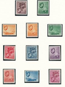 SEYCHELLES # 125-135 VF-MLH KGV1 ISSUES TO 20cts CAT VALUE $88++