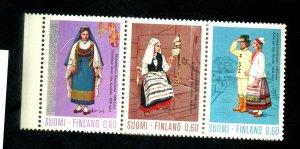 FINLAND #537A MINT STRIP OF 5 VF OG NH Cat $28