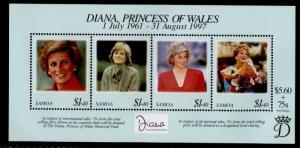 Samoa 956 MNH Princess Diana, Royalty