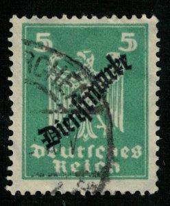 1924, National Eagle and Stephan Overprinted Dienstmarke, 5M (T-8161)
