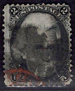 US Stamp #73 2c Jackson USED SCV $55