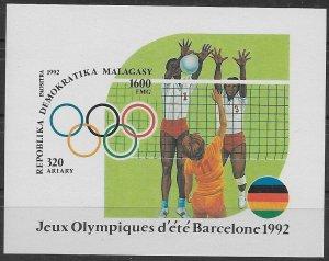 1992 Malagasy Republic B191b 1992 Olympic Games in Barcelona