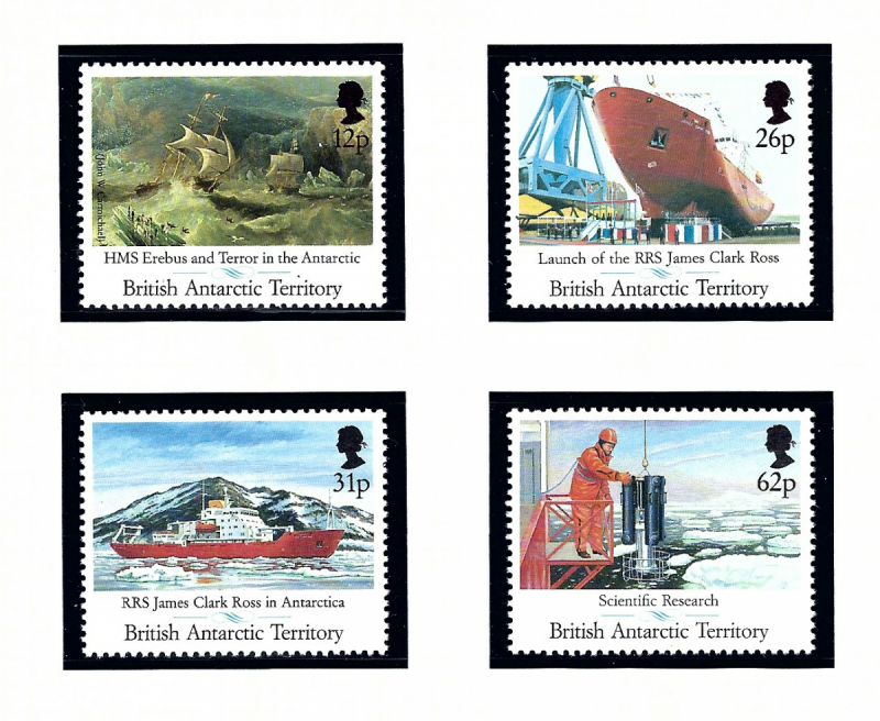 British Antarctic Territory 184-87 MNH 1991 Royal Research Ship