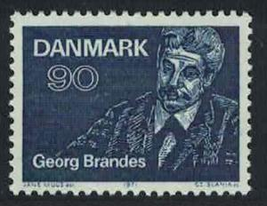 Denmark Centenary of First Lectures by Georg Brandes writer 1v SG#535