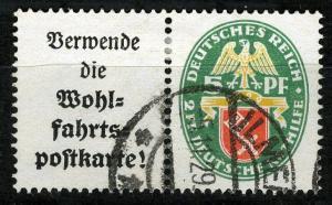 Zusammendrucke DR, Se-Tenant, 1929 Semi-Postal  Mi. W 34, VF ++ used