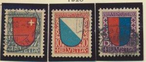 Switzerland Stamps Scott #B15 To B17, Used