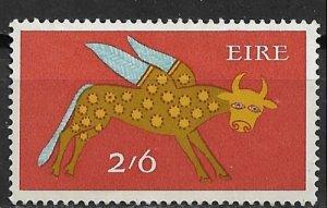1968 Ireland 263 2sh6p Winged Ox from Lichfield Gospel Book MH