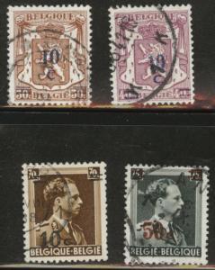Belgium Scott 312-315 used from 1938-1942 stamp set